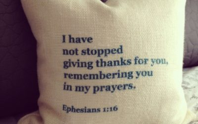 I do not cease to give thanks for you…