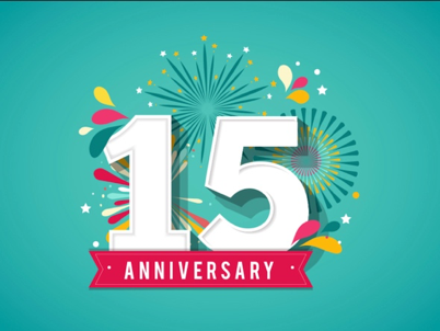 We're Celebrating 15 Years!!!
